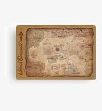 Hyrule Overworld Map - Legend of Zelda: A Link to the Past Canvas Print