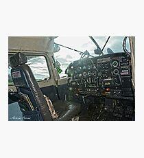 Cessna Cockpit Photographic Print