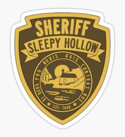 Sheriff of Sleepy Hollow Sticker