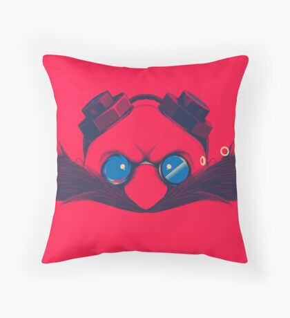 Dr. Robotnik Throw Pillow