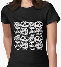 Desperately Seeking Skulls  Womens Fitted T-Shirt