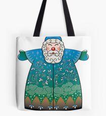 Stylized Blue Santa Claus Tote Bag