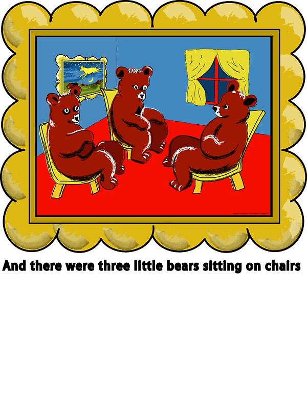 Quot Goodnight Moon Three Little Bears Sitting On Chairs
