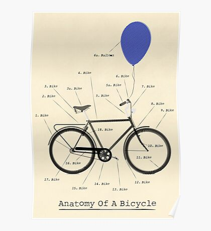 Anatomy Of A Bicycle Poster