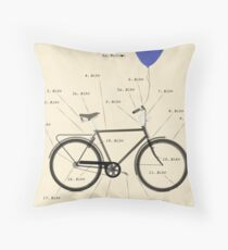 Anatomy Of A Bicycle Throw Pillow