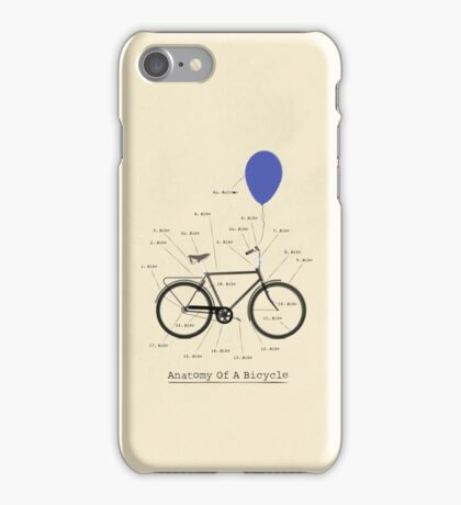 Anatomy Of A Bicycle iPhone Case/Skin