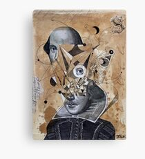 shakespeare as an abstracted concept  Canvas Print