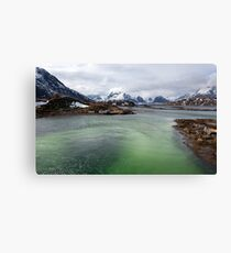 Selfjord Turquoise Canvas Print