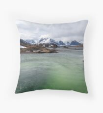 Selfjord Turquoise Throw Pillow