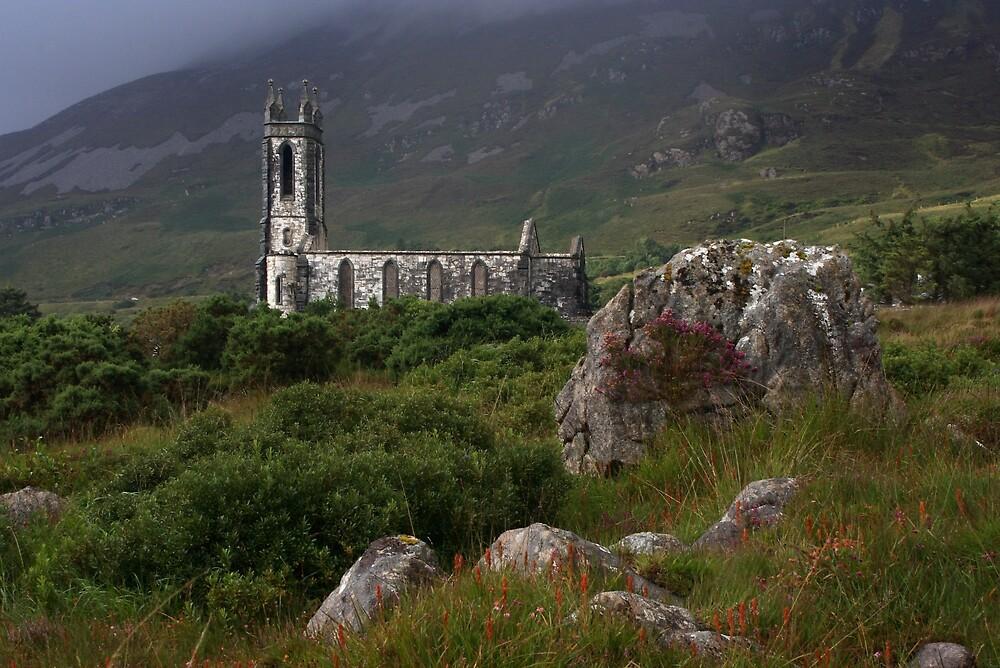 Dunlewey Church On Overcast Day by Adrian McGlynn