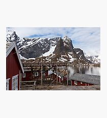 Red Fishing Huts Photographic Print