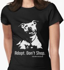 Adopt Dont Shop P4P apparel Womens Fitted T-Shirt