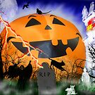 The Very Happy Great  Pumpkin by WildestArt