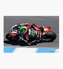 Eugene Laverty at Laguna Seca 2013 Photographic Print