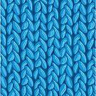 Blue knit sweater fabric pattern by oksancia