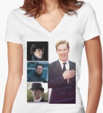 Cumbercollective Women's Fitted V-Neck T-Shirt