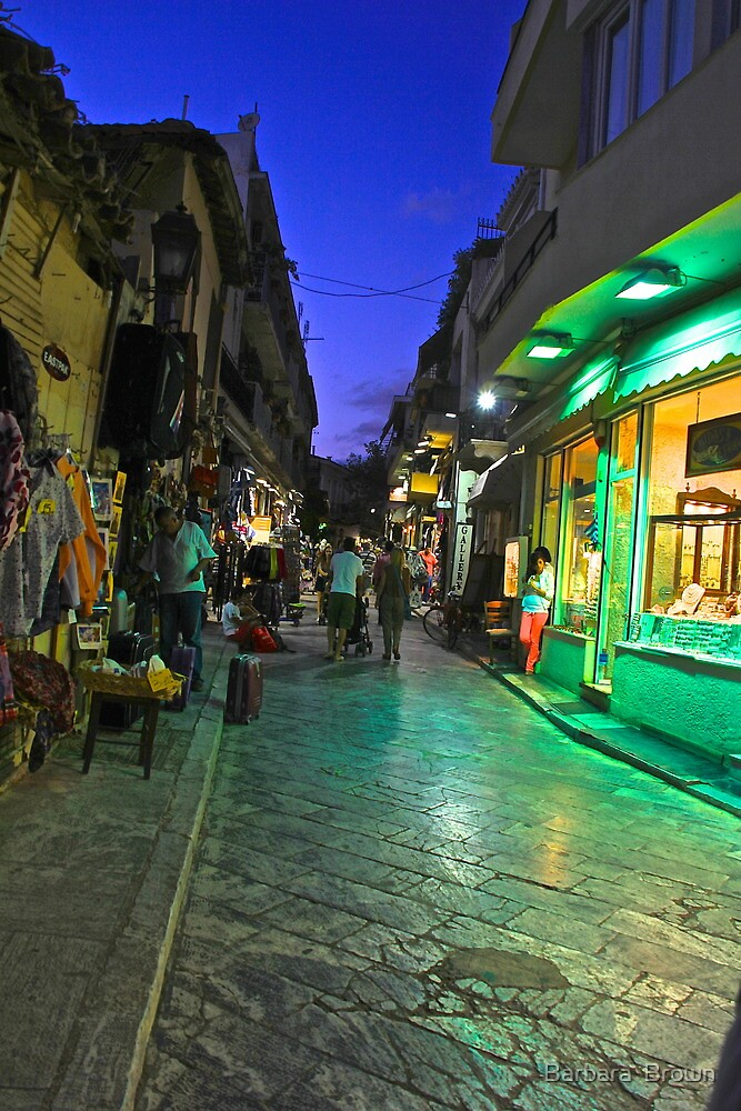 Shopping in Athens by Barbara  Brown