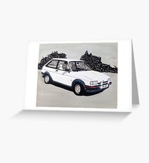 Mk.2 Ford Fiesta XR2 Greeting Card