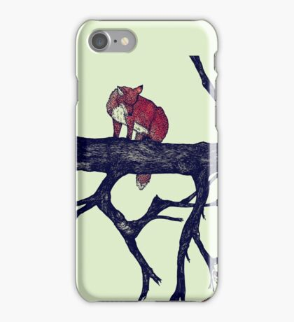Foxes First Meeting iPhone Case/Skin