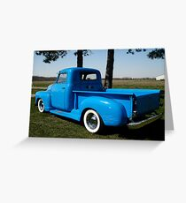 1950 Chevrolet Pick Up Baby Blue Greeting Card