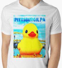Pittsburgh, PA Duck Mens V-Neck T-Shirt