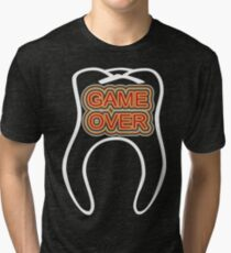 Funny Game Over Tri-blend T-Shirt