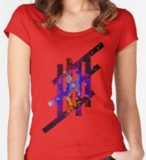'Stripe'- Galaxy Women's Fitted Scoop T-Shirt