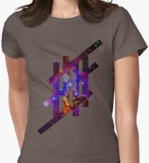 'Stripe'- Galaxy Womens Fitted T-Shirt