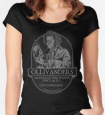 Ollivanders fine wands Women's Fitted Scoop T-Shirt