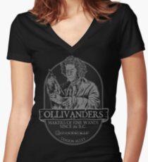 Ollivanders fine wands Women's Fitted V-Neck T-Shirt