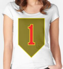 1st Infantry Division, US Army Women's Fitted Scoop T-Shirt