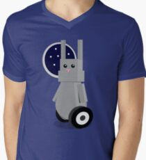 Robot Rabbit in Space Men's V-Neck T-Shirt