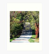 One Lane Road Art Print