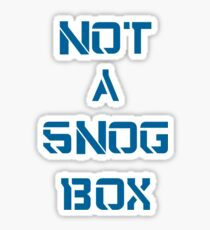 Doctor Who: NOT A SNOG BOX  Sticker