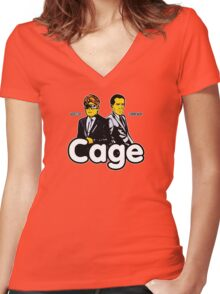 Cage (Version 2) Women's Fitted V-Neck T-Shirt