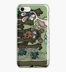 Teddy Bear And Bunny - Having Fun iPhone Case/Skin