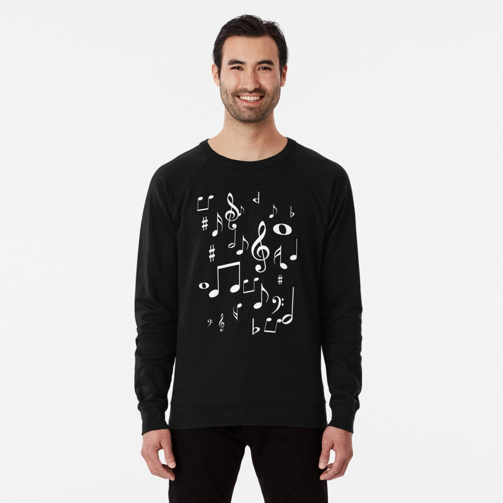 Music notes Lightweight Sweatshirt