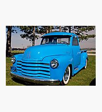 Baby Blue Chevy From 1950 Photographic Print