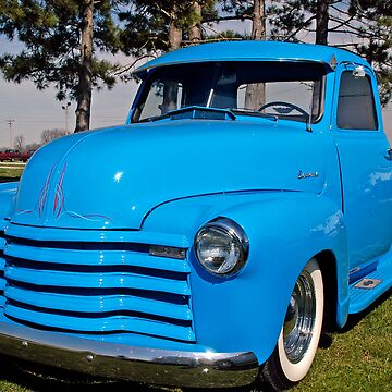 Baby Blue Chevy From 1950 by branhamphoto