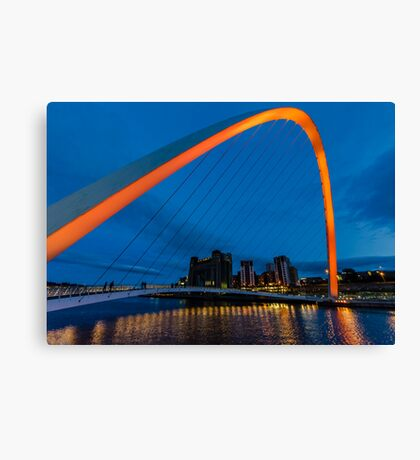 Gateshead at Night Canvas Print