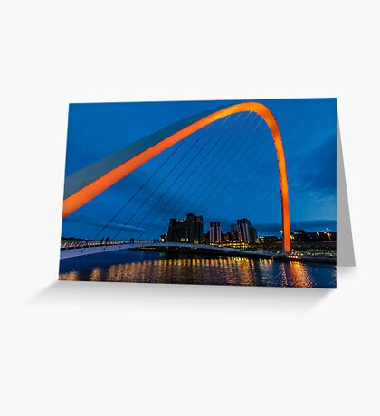 Gateshead at Night Greeting Card