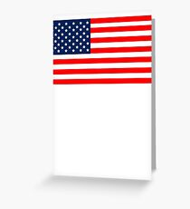 Flag of the United States of America Greeting Card