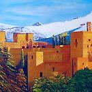 """""""LA AHLAMBRA OF GRANADA"""" by Manuel Sanchez"""