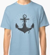 Kids Vintage Anchor Tshirt - Hand Illustrated Classic T-Shirt