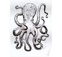 Inky Octopus Poster