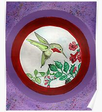 Humming Bird Circle Poster
