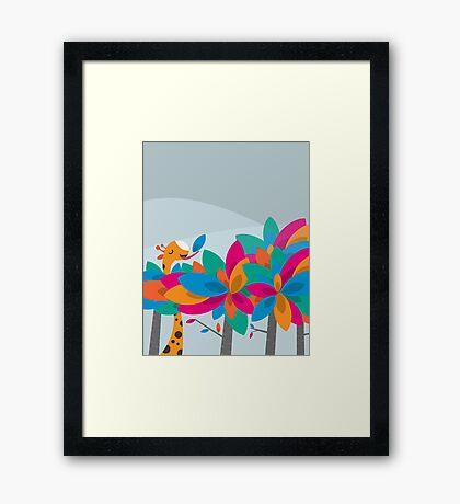 Orange and Trees Framed Print
