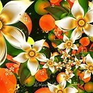 Fractal Orange Blossoms by wolfepaw