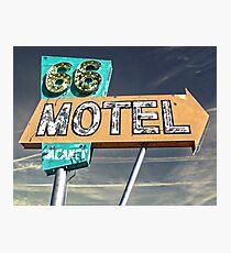 Motel 66 Photographic Print