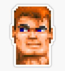 Wolfenstein 3D (Head) - Retro DOS game fan shirt HD pixels Sticker